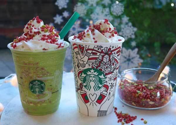 每一口都有聖誕氣氛❆星巴克「開心果系列」飲品發售ing,限定週邊也美到想立刻飛去日本!