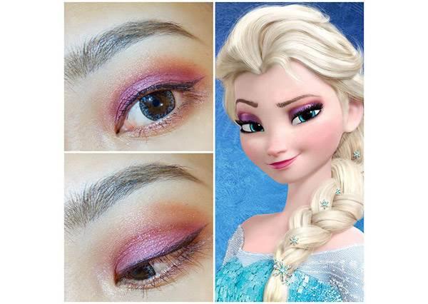 睡美人眼妝早就預告韓妞乾燥玫瑰色大紅?迪士尼公主眼妝教學,照著畫也能找到王子嗎?
