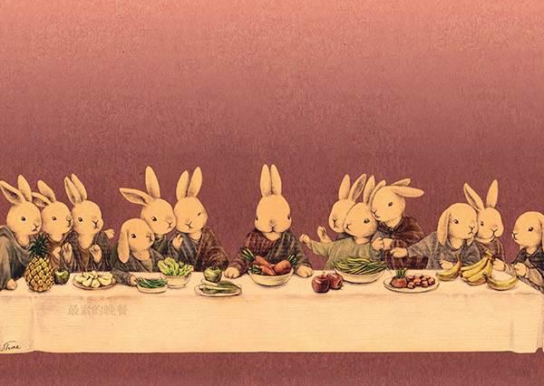 當亞當變成兔子,竟然偷吃步找小幫手幫忙?!亂入大師經典名畫的兔兔,孟克吶喊根本不崩潰,徹底賣萌!