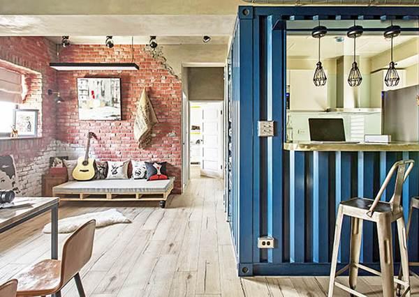 好想複製貼上變成我家!小坪數套房也能變身夢幻貨櫃屋,說是IG超夯咖啡廳都有人信啊!