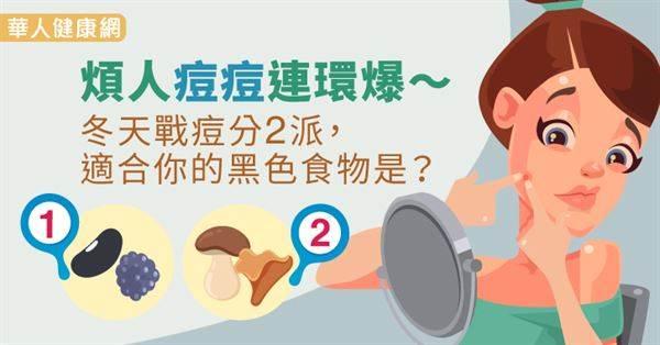 不是只有夏天會爆痘?!冬天痘痘分2種,快來看看哪種〝黑色食物〞是你的美肌仙丹!