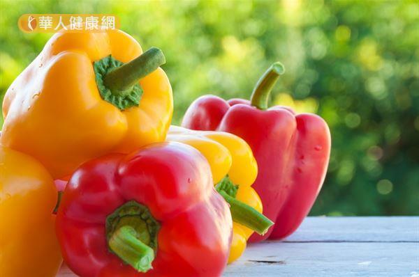 一天只要吃2個甜椒,就可以滿足人體一天所需的維生素C。