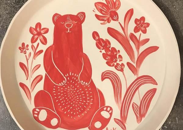 怎麼捨得裝菜蓋住它啊!超可愛動物繪畫圓盤大集合♥通通擺上桌光吃圖案就被融化大滿足了啊~