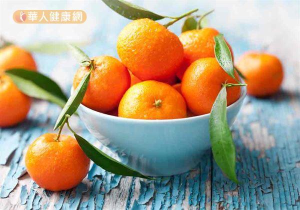柑橘象徵「大吉大利」,有習慣性咳嗽者不宜多吃。