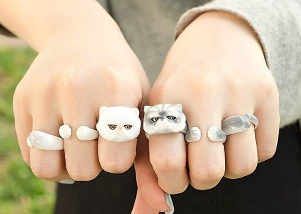 媽媽不准我們養寵物沒關係!飾品系可愛動物戒指大集合♥偷偷養隻喵喵在手上隨身攜帶黏著你超療癒啊~