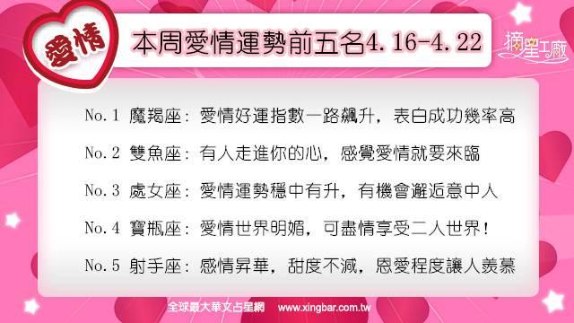 12星座本周愛情吉日吉時(4.16-4.22)