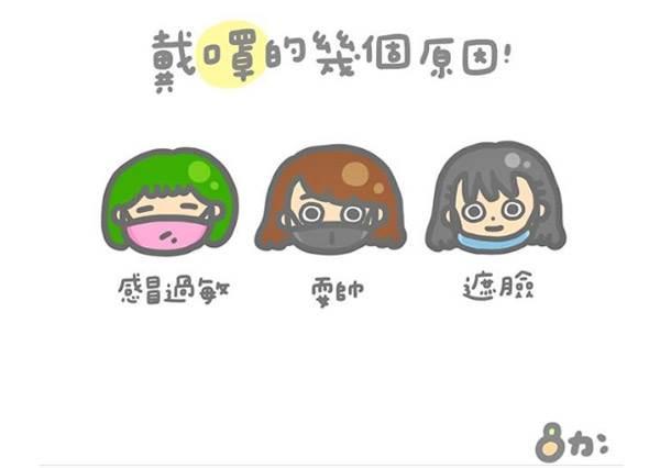 口罩戴的好,顏值加分70%!《7件女孩才懂的日常外貌大小事》,眼鏡演變史根本是部女孩外貌進化史啊!