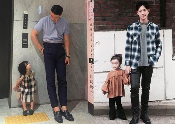 連媽媽都大吃醋!韓國根本不像爸的「帥氣歐霸與女兒有愛日常」,看到這顏值可以直接排隊認乾爹嗎?
