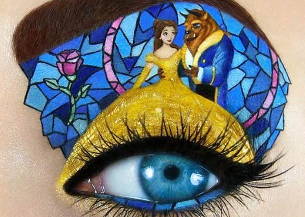 最浪漫的畫面都在姐的眼皮上!「超夢幻卡通人物煙燻眼妝」,小美人魚bling bling鱗片眼妝美到根本星星掉到眼睛上啊!