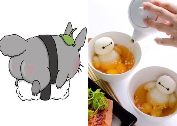 老皮、皮卡、蛋黃傻傻分不清了!《超萌卡通人物握壽司》大集合❤老闆~這盤龍貓壽司白飯給的太少啦~