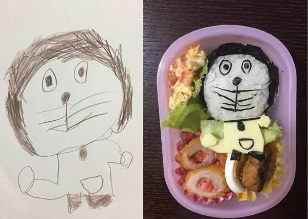 地表最強暖爸!日本爸爸神複製女兒塗鴉自製「卡通便當」,不管寶貝女兒畫什麼,把拔都做給妳!
