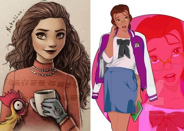 迪士尼天生衣架女王是她!比公主服好看100倍的「學生服+私服」公開,莫娜這套根本雜誌走出來美麗歐膩啊