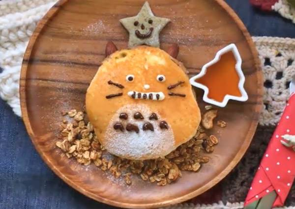 網美風下午茶不求人!動手做「超簡單龍貓鬆餅」,給你甜甜的下午時光
