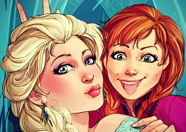 如果迪士尼人物也玩instagram,誰會是最誇張的自拍魔人呢?