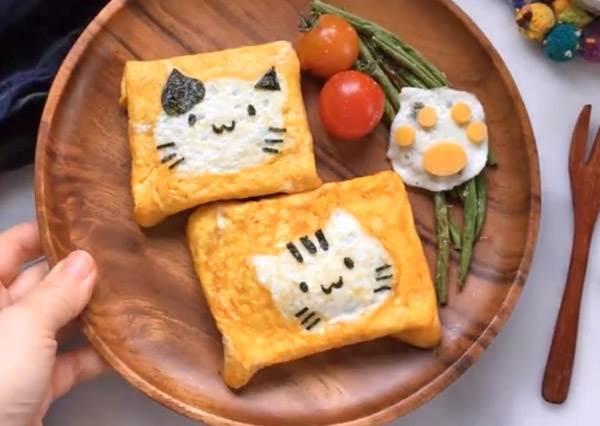 只要10分鐘就可以!幸福早餐「超簡單貓咪蛋捲」,吃完都想幸福的喵喵叫!
