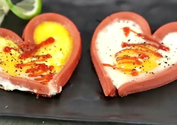 就是這麼簡單!只要會煎蛋,手殘也能做出男友狂讚的「愛心創意火腿蛋」