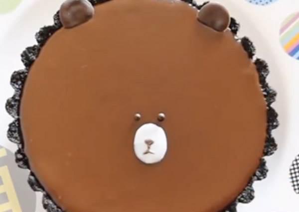 無痛上手!超可愛免烤箱「熊大OREO巧克力塔」,呆呆萌萌的臉你捨得吃嗎?