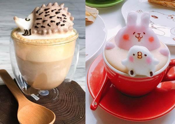 請來我的杯子游泳吧!「動感可愛卡通拉花咖啡店」,不喝咖啡看兔兔P助ㄉㄨㄞㄉㄨㄞ呆萌樣秒被療癒啦!