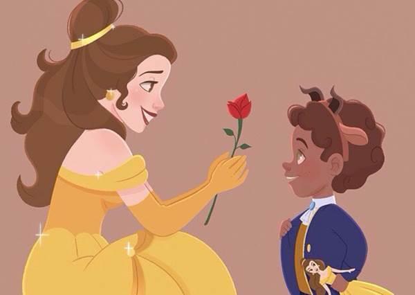 迷你撩妹高手訓練班!「超萌迪士尼小王子偷把公主姊姊」約會日記,小野獸臉紅模樣讓姐姐好想給他愛的抱抱呀