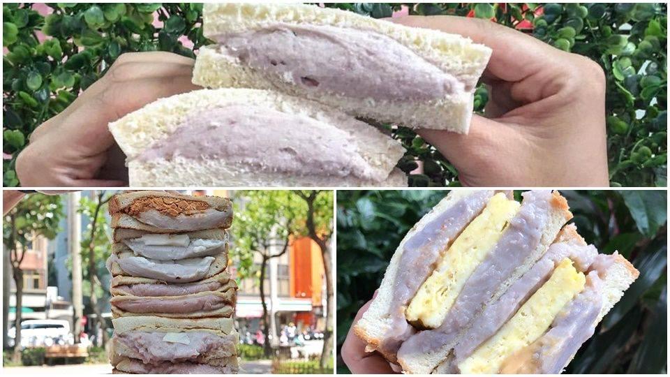 那麼多層是在玩疊疊樂吧!《5間芋泥鐵板土司》讓芋頭粉秒心空,吃一個就直接飽到下午啦~