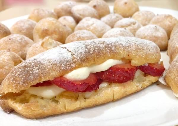 人氣排隊甜點DIY!1麵團2種做法 閃電x經典小泡芙,冰過更好吃
