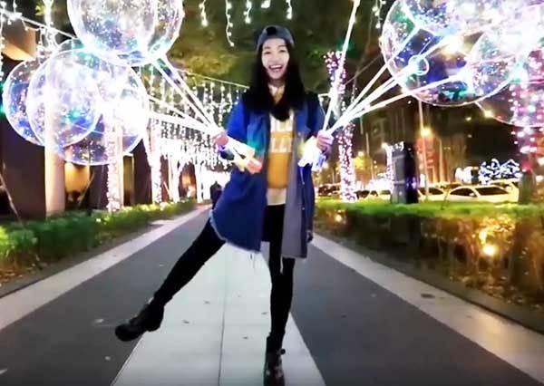 男友送上「告白氣球」驚喜 女友:幸福冬天被暖和了