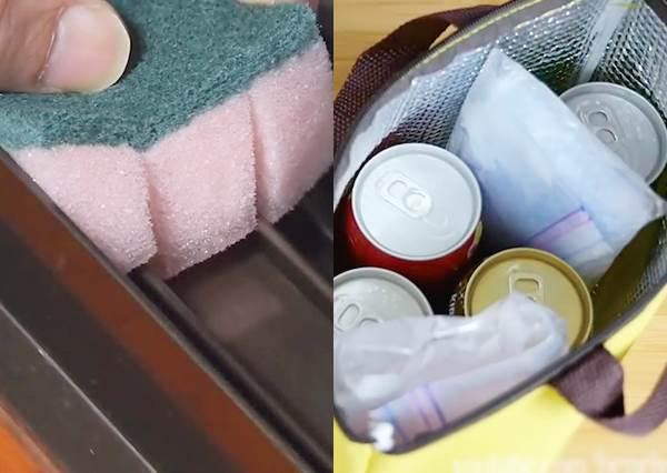 不只洗碗!連窗戶縫都能清乾淨 10大海綿妙用,竟還能當保冷袋?
