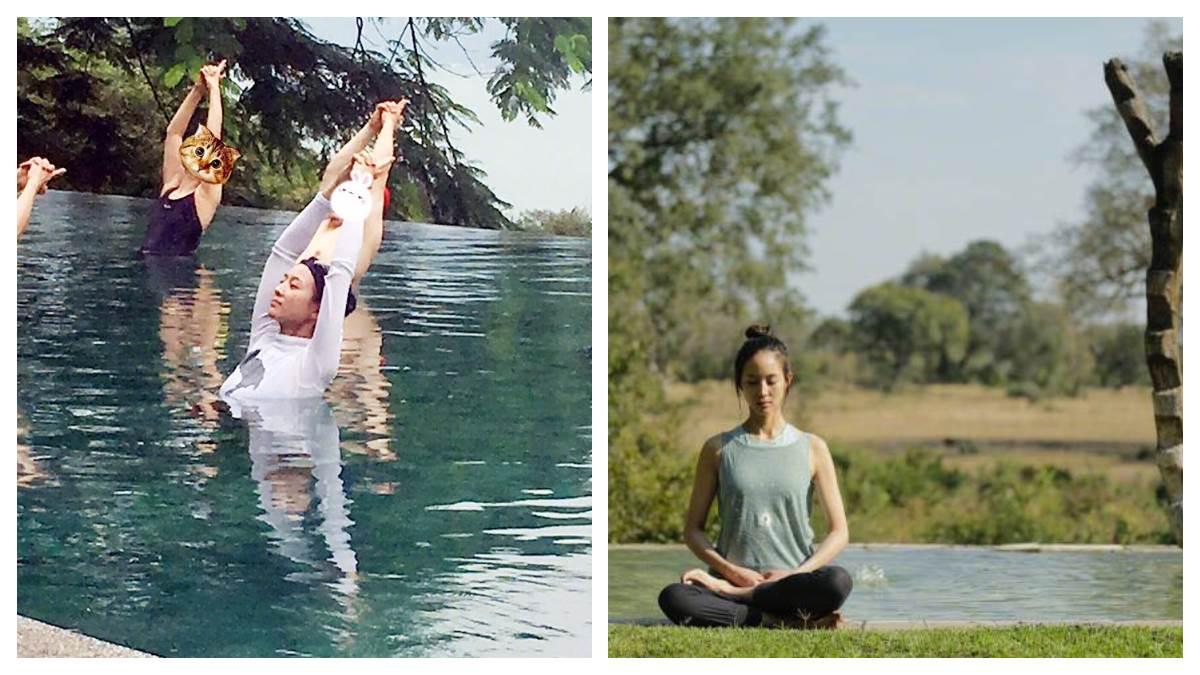 慢跑女神最近玩這個!運動狂張鈞甯「水中瑜珈」經驗分享超推坑,想跟她一樣纖瘦快筆記啊