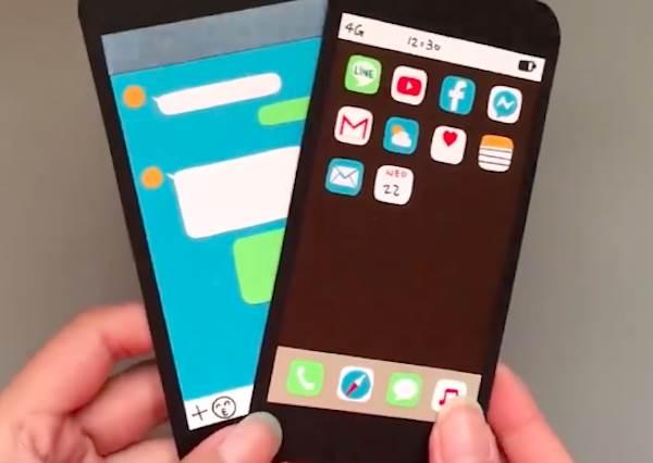 滿滿心意只有你能解鎖♡超仿真「iPhone手作卡片」不必花大錢,連APP也通通完美還原~