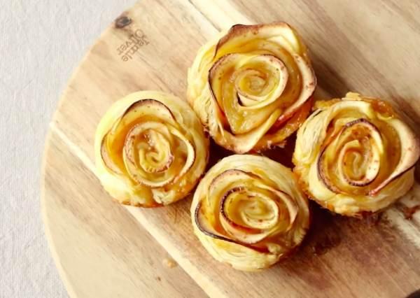 不需要任何廚藝就能GET!浪漫爆表「玫瑰花蘋果派」,這次輪到男友表現了啦!