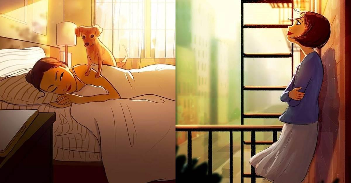 「可以沒有愛情,但不能沒有愛好。」9張插圖畫出《單身女子的日常》,一個人才不孤單呢~