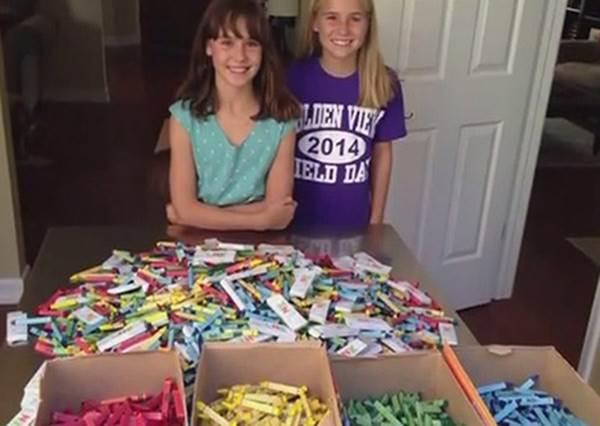 兩個女孩和爸爸自製再生蠟筆,救地球!