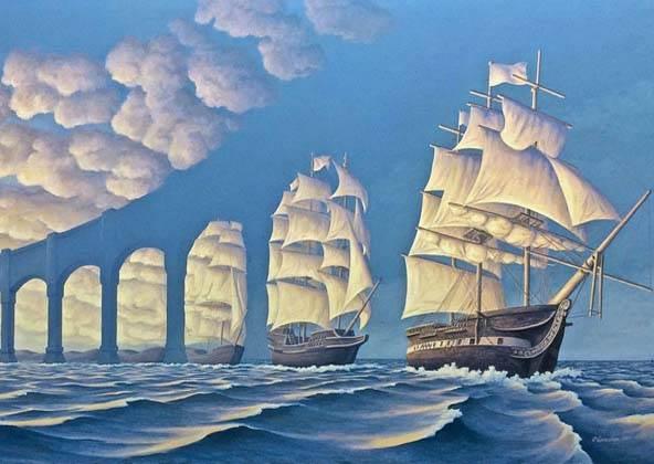 海鷗海浪傻傻分不清楚!讓人眼花的錯視畫你看懂了幾幅?