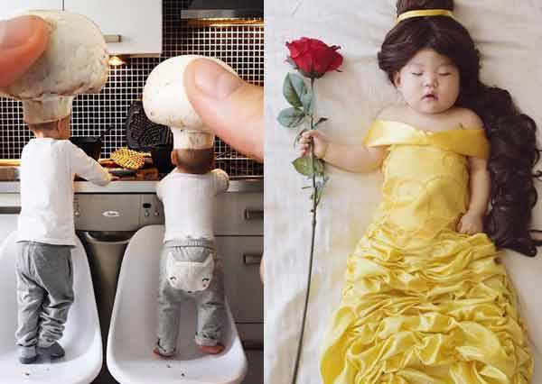 就要讓我的寶貝成為世界第一可愛!「超狂媽媽的寶寶扮裝秀」,戴起蘑菇廚師帽完全不輸米其林大廚