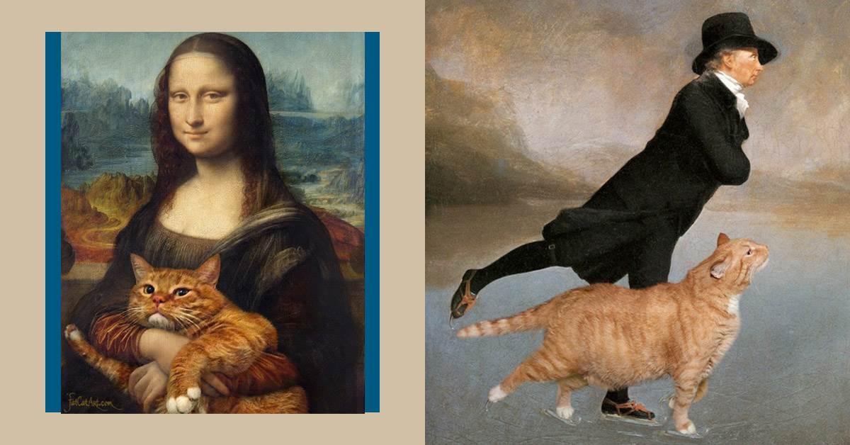 原來蒙娜麗莎是貓奴?看這隻橘貓如何完美「亂入」各大名畫,主子的下一步奴才猜不透啊~