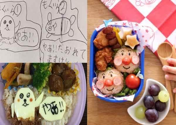 不許你說這皮卡丘是亂畫!日本老爸超暖心神還原「女兒天真塗鴉卡通午餐」,邊吃讓人不禁淚流滿面