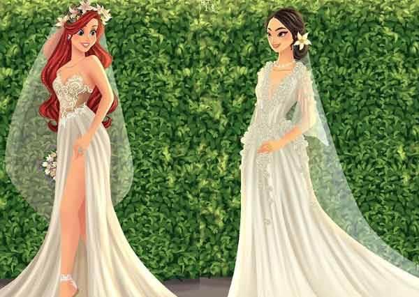 迪士尼最美新娘果然是她!公主當人妻「超美嫁紗」大公開,仙杜瑞拉這套美到有人要來搶親啦~