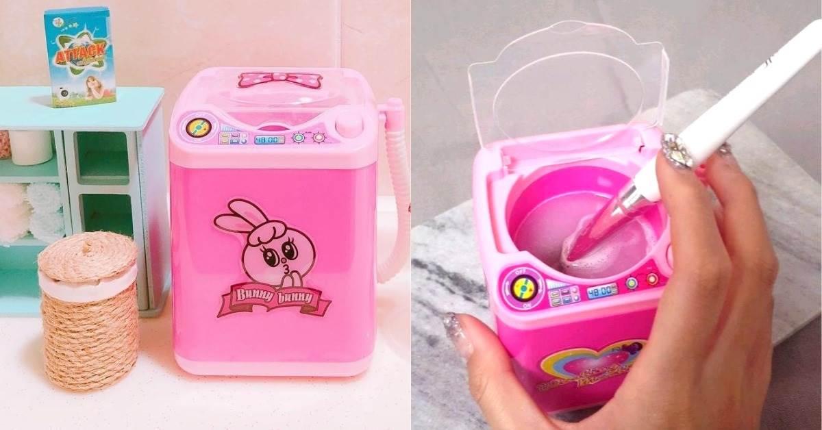 韓國大創就是不會讓人失望!超Q萌「刷具洗衣機」韓妞圈正夯,快來幫妳的寶貝刷子洗香香~