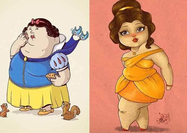 炸掉減肥念頭吧!肉多多更討人喜歡「棉花糖系♥迪士尼公主與英雄」,誰規定漂亮一定要瘦不拉嘰的