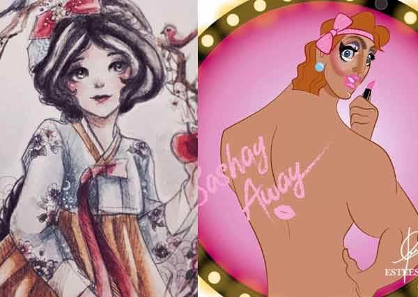 親愛的妳怎麼穿越了?《迪士尼公主穿新衣換新貌》,艾莎姊妹花的旗袍裝直接美成總裁系列封面啦!