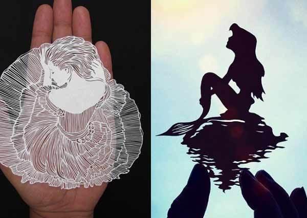 剪出一件蕾絲禮服送你!神級藝術家驚人剪紙手技,剪出的髮絲連本人都傻傻分不清哪根真哪根假了?
