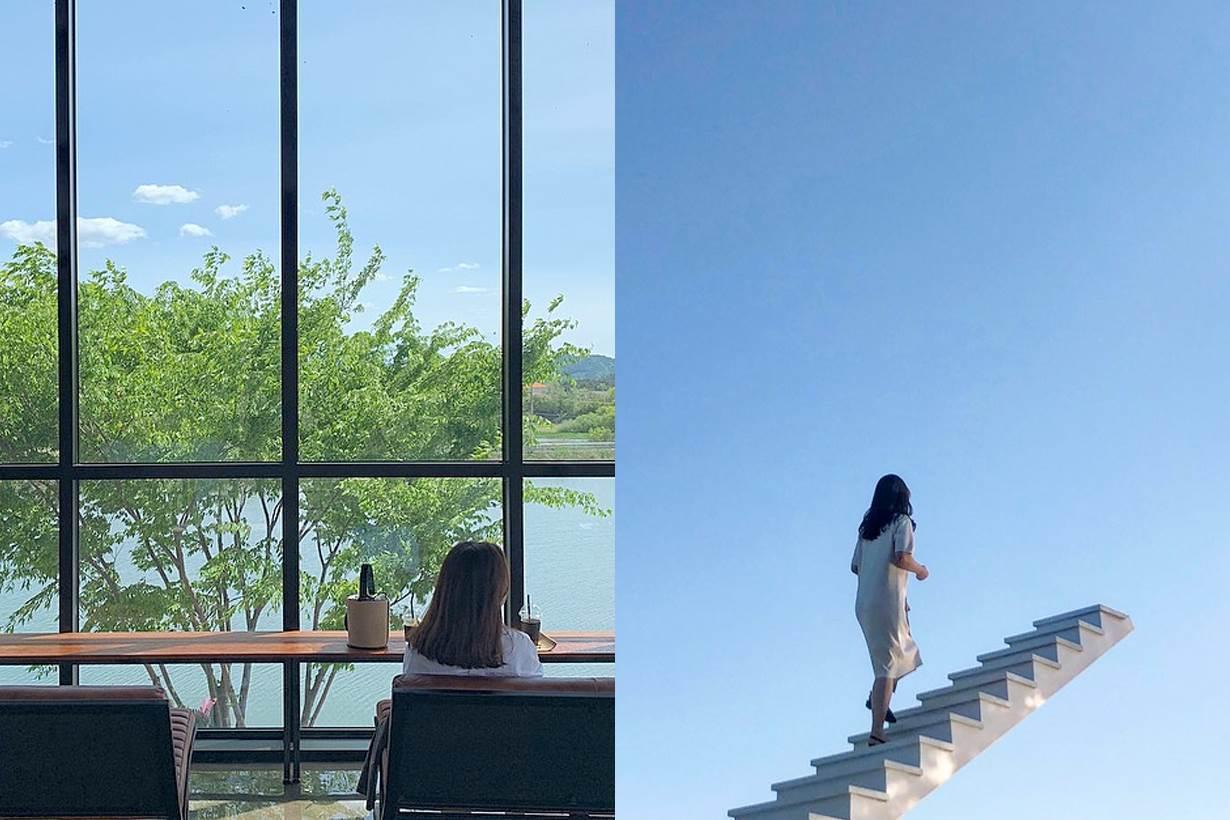往上走能到天堂嗎?韓國打卡新夯點「天空階梯CAFÉ」超好拍,就算一整天坐著發呆都愜意啊~