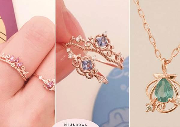 七夕禮物可以先準備♡韓國 「迪士尼公主飾品」全部都好想收,貝兒的玫瑰項鍊戴上氣質瞬間UP啊~