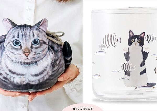 奴才們快掏錢包!日本「貓貓周邊」94要萌到心坎裡,水杯一倒水就讓主子發胖也太大膽啦~