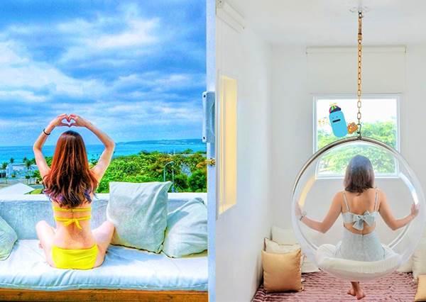 屏東住宿|Kenting Gold Design Hotel|墾丁絕美純白海景民宿,南灣就在你眼前!
