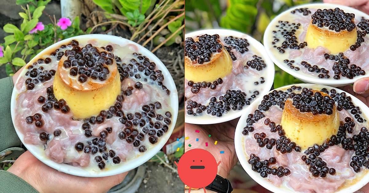 台南美食|清水堂|跟火山一樣的芋泥冰,搭配密密麻麻的珍珠.看了就想吃!
