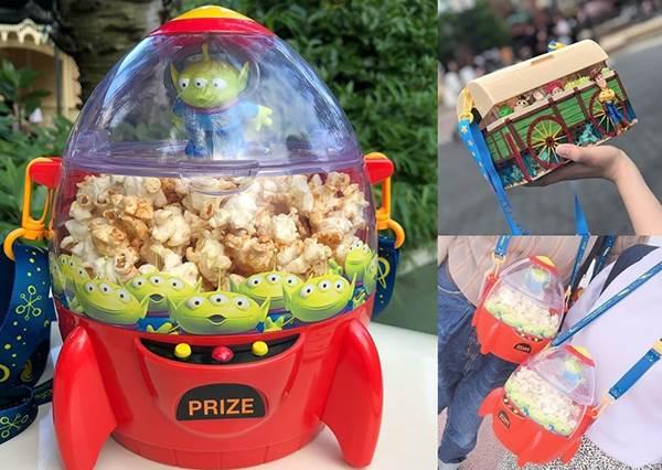 萌慘了!東京迪士尼「玩具總動員爆米花桶」必買這幾款!最新「三眼怪火箭娃娃機」無敵可愛~再大咖也要拎回國!