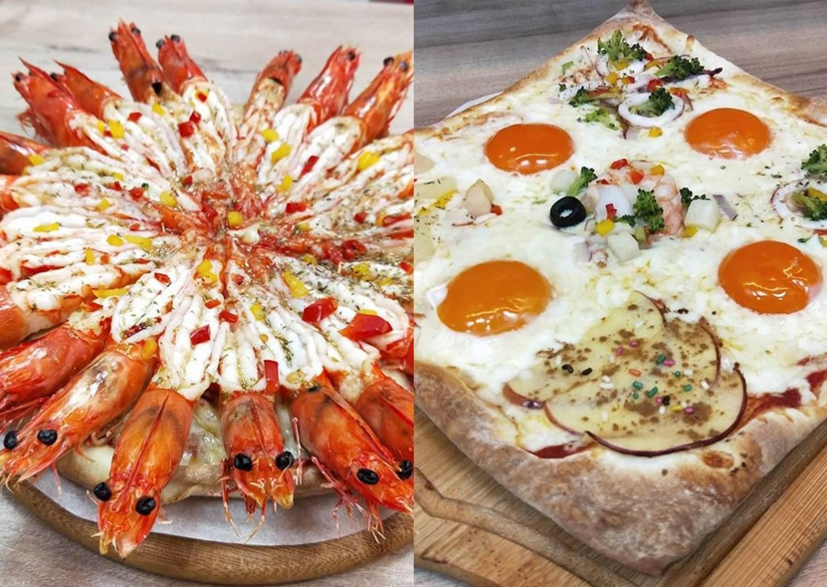 免剝殼蝦子鋪好鋪滿!士林超狂24隻蝦「海大俠披薩」,就算吃到痛風也甘願啊!