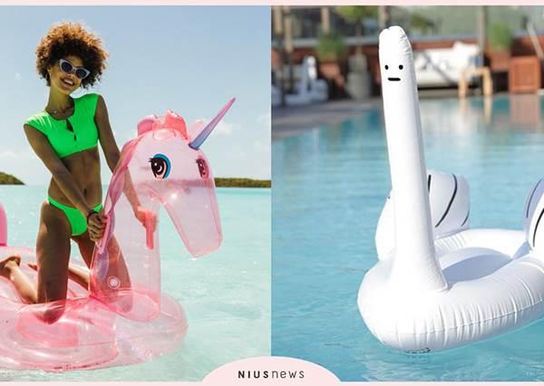 玩水也要很蝦趴!5款「超Q泳圈」讓妳天天往海邊報到,粉紅獨角獸姐妹絕對搶著騎啊~