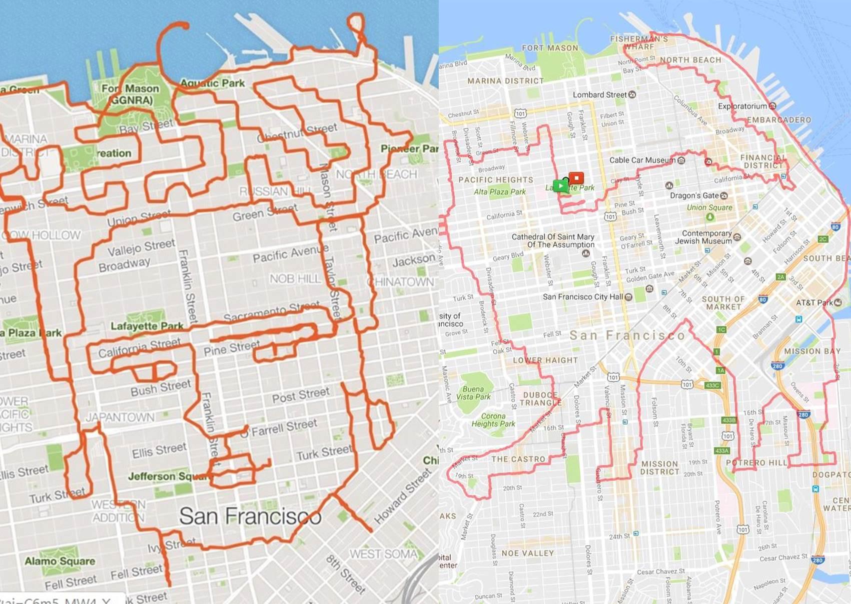 整個城市都是我的畫布!跑男熱愛「跑步藝術」,慢跑47公里畫出「鈔票上的大人物」